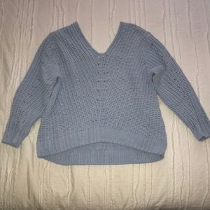 H&M Light Blue Cable Knit Sweater XS